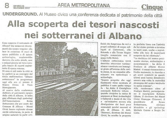 Alla scoperta dei tesori nascosti nei sotterranei di Albano