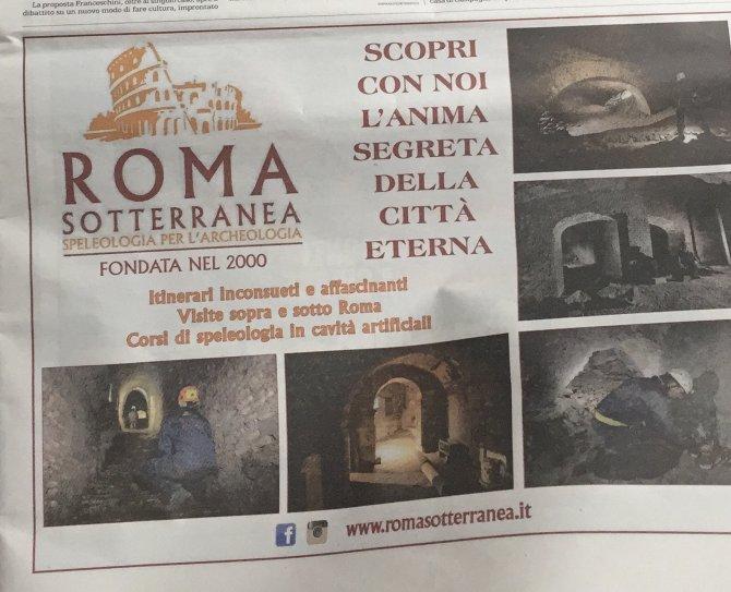 Pubblicità ROMA SOTTERRANEA