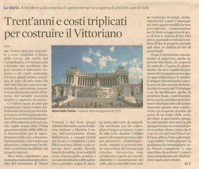Trent'anni e costi triplicati per costruire il Vittoriano