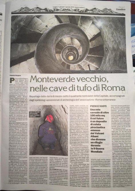 Monteverde vecchio, nelle cave di tufo di Roma