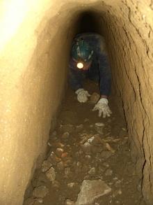 Esplorazione sotterranei della Villa di Faonte