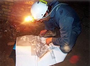 Attività di rilievo topografico nei sotterranei del Vittoriano